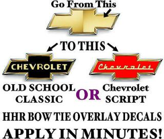 HHR  VINTAGE  CHEVROLET STYLE BOW TIE OVERLAYS   DECALS   GRAPHICS