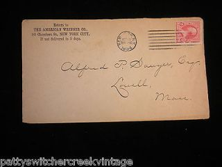 Postal Cover American Wringer Washer Co NY To Alfred Sawyer Esq