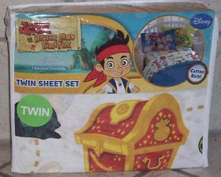 JAKE AND THE NEVER LAND PIRATES 3 PIECE TWIN SHEET SET COTTON RICH