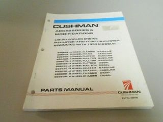 Cushman Haulster Turf Truckster accessories parts catalog manual