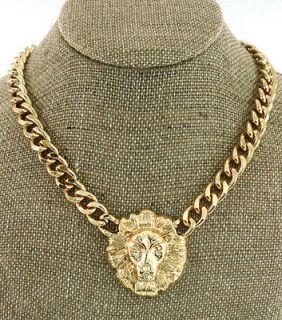 Lion Head Statement Necklace Chain Rihanna NWT Chunky Trendy Animal