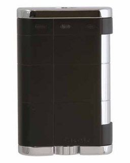 XTX Triple Jet Flame Table Top Cigar Lighter Black Lifetime Warranty