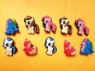 My Little Pony Horse Shoe Charm 10pcs Jibbitz For Crocs  8