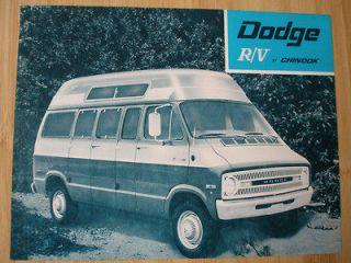 Chinook Dodge R/V Motorhome brochure c1970