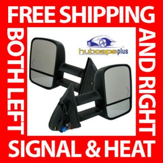 07 11 Chevy Truck Power Heated Memory Signal Towing Side View Mirrors