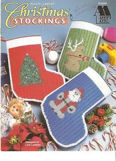 ANNIES*ATTIC 1996 PLASTIC~CANVAS BOOKLET CHRISTMAS*STOCKINGS