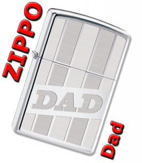 Zippo DAD High Polish Chrome Windproof Lighter 28374 *NEW*