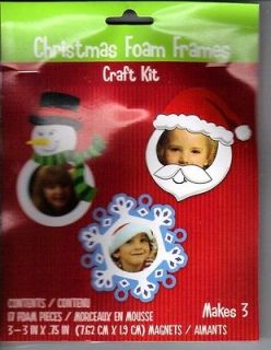 Newly listed CHRISTMAS FOAM FRAMES CRAFT KIT SANTA*SNOWMAN AND