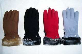 HEAD LADIES GLOVES Casual Evening Winter Faux Fur Cuff Lined Womens