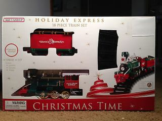 Brand New Holiday Express Christmas Train Set Toy 18 Piece