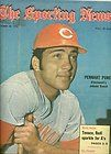 1972 Sporting News CINCINNATI Reds JOHNNY BENCH No Label PENNANT PUNCH