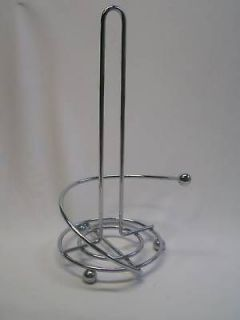 chrome free standing paper towel holder