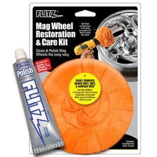 WHEEL RESTORATION KIT Chrome Rim Wheel Cleaner Polish & Wax Protectant