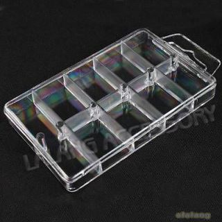 6x Clear Plastic Beads Storage/Jewelr y Display Case Box For Packaging
