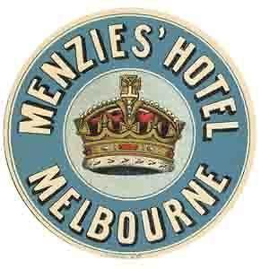 Melbourne, Australia Hotel Vintage 1950s Style Travel