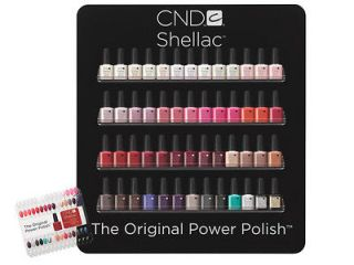 CND SHELLAC ACRYLIC WALL RACK DISPLAY(EMPTY) HOLD52 BOTTLES*ORIGIN AL