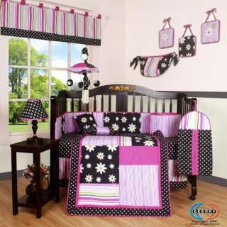 Newly listed GEENNY Charming Flower 13P Baby CRIB BEDDING SET