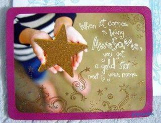 TAYLOR SWIFT   GLITTER BIRTHDAY * GOLD STAR * GREETING CARD