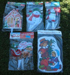 christmas lawn ornaments in Holiday & Seasonal