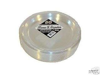 10 Clear Plastic Plates, Forks, Knives Spoons 100 EACH