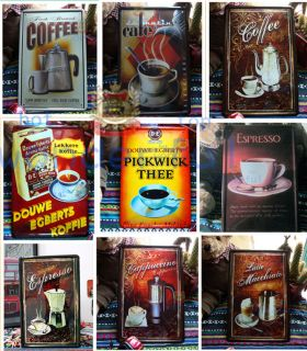 COFFEE Signs metal vintage art bars cafes home Wall decoration iron