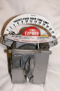 PARKING METER TIMER MECHANISM 24 HS COLLECTIBLE CLOCK NY CAR lot3