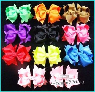 lot Baby Infant Girl Costume Boutique Hair Bows Clips Xmas H1 gojrhff
