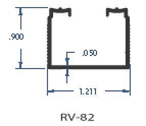 RV Aluminum Sliding Door Track, RV Closet Door Track, Mirror Door