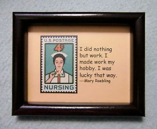 2946  Collectible Postage Stamp Art   Nursing #1   Gift for nurses