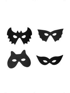 Assorted Black Halloween Masks Halloween Fancy Dress