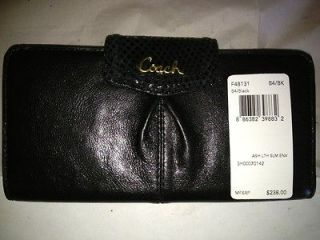 coach ashley black wallet in Womens Accessories