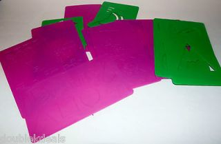 CRAYOLA BARNEY BABY BOP STENCILS AND RUBBING ART PLATES ©1993 SHAPES