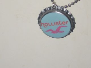 Hollister Necklace Leather Necklace Choker Eagle Head Pendant NWT
