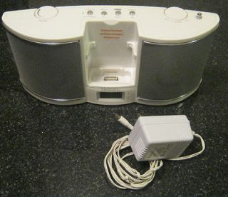 Emerson Research Ipod Docking Speakers Charger Alarm Radio