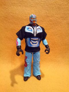 WWE Mattel Rey Mysterio Sky Blue Color with Rey BIG FACE Sleeved