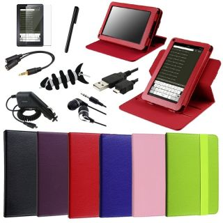 PU Leather Case/Car Charger/Stylus For  Kindle Fire 7