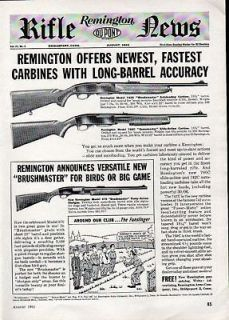 1961 Remington Arms Co Ad Model 742C  760C & 870 Bush