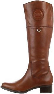 Etienne Aigner Womens Chastity Riding Brown Banana Bread Leather Boot
