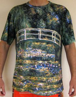 WATER LILY POND New Claude MONET Hand Print Fine Art PN T Shirt Mens