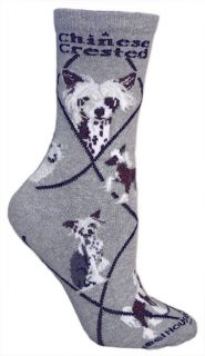 Chinese Crested Socks New with Tags Color Grey