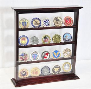 20 Double Sided Challenge Coin Display Case Holder Rack