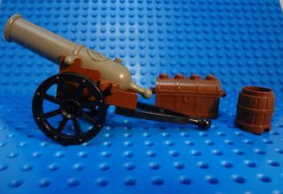 LEGO Boat Western Civil War NON Shooting Canon on Base w/ Wheels