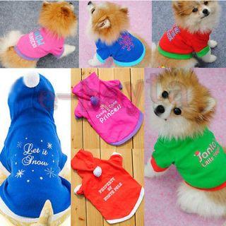 Cat Various Christmas Cotton T Shirt puppy Small Dog pet Clothes Coat