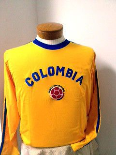 COLOMBIA Jersey T SHIRT POLO SOCCER FUTBOL STILE UNISEX GIFT