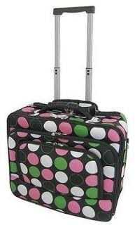 Dot Print Designer Style Rolling Laptop Case/Briefcase(Multi Color