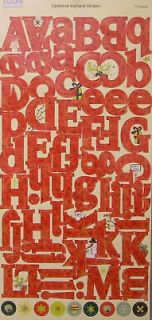 Cloud9 Christmas Cardstock Large Alphabet Stickers 044