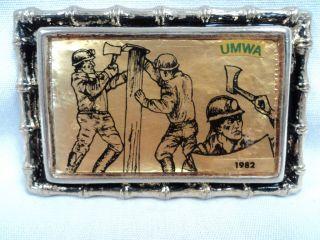 Vintage Coal Company UMWA 1982 Belt Buckle