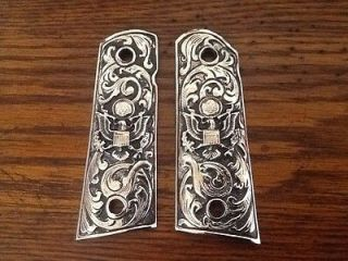 Newly listed COLT 1911 AMERICAN EAGLE ARMY ANTIQUED NICKEL GUN GRIPS