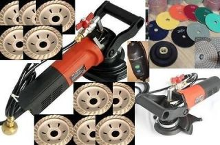 Concrete Wet Grinder Polisher Diamond Cup Wheel & 22 Pads 16 Cup Wheel