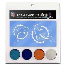 GENUINE MIAMI DOLPHINS FACE PAINT WITH STENCIL